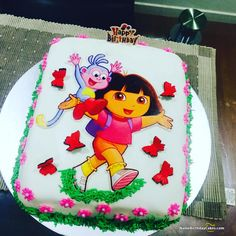 You can add an amazing spark to your son or daughter's birthday with amazing Dora Cake. Dora Birthday Cakes is an extremely popular cake for birthday parties. Dora Birthday Cake, Cartoon Birthday Cake, Dora Cake, Birthday Favors, 3rd Birthday Parties, 4th Birthday, Birthday Ideas, Dora Cartoon, Happy Birthday Wishes Quotes