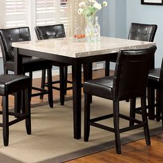Furniture of America CM3866PT-48 Marion Square Counter Height Dining Table | ATG Stores