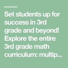 Set students up for success in 3rd grade and beyond! Explore the entire 3rd grade math curriculum: multiplication, division, fractions, and more. Try it free! Learning Time, Kids Learning Activities, Sixth Grade Math, Grade 1, Second Grade, Biology Projects, School Projects, School Ideas, Kids Math Worksheets