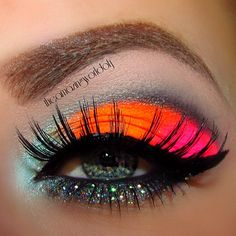 Neon Eyeshadow. party make up :)