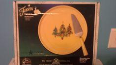 $75 Fiestaware Trio Trees Cake Plate Server   eBay