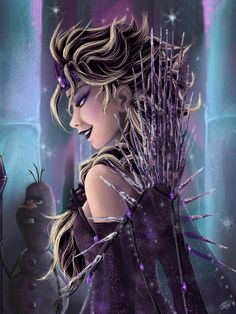 "Dark Elsa by CourtneyLuv7.deviantart.com on @DeviantArt - From ""Frozen""; If she had been the villain"