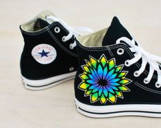 8fd5a8ba2741 Items similar to Custom Hand Painted Shoes on Etsy. Sacred Geometry Converse  - Custom Hand Painted Sneakers by BStreetShoes