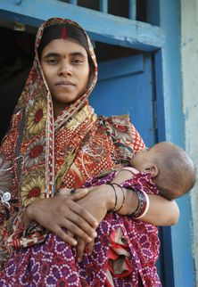 Tradition in rural villages dictates that women give birth at home.