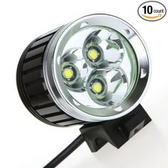 Gugou New 3x Cree Xm-l T6 4000lm Led Headlamp Front Bicycle Lamp Bikelight Headlight