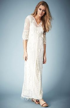 Kate Moss for Topshop Crochet Lace Maxi Dress // from @Nordstrom