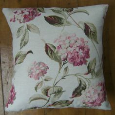 Bespoke covers individually made for you You are purchasing one pair of cushion covers professionally made with Hydrangea Pink A 93 cotton 7 linen