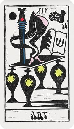 Sophy Hollington's striking tarot deck combines mysticism with a glam-punk contemporary twist Book Design, Design Art, Tarot Major Arcana, Stamp Printing, Vintage Graphic Design, Illustrations And Posters, Tarot Decks, Tarot Cards, Vintage Posters