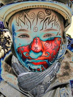 Great face painting...
