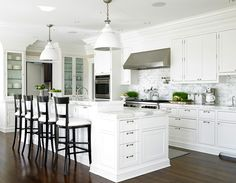 Love all the white-but still no sink on island. MH
