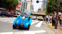 Toyota Global Site | TOYOTA i-ROAD Sharing Service Trial in Tokyo