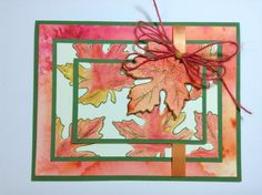 Fall leaves, water colored.