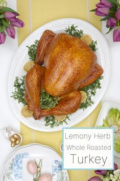 Lemony Herb Whole Roasted Turkey Whole Turkey Recipes, Recipe Inspiration, Food Categories, Roasted Turkey, Family Meals, Celebrations, Special Occasion, Father, Pai