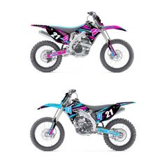 where can I get decals like this for my bike!!! love the blue!!
