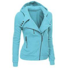 Winter Warm Hoodies Coat Women Fashion Casual Zipper Hoodies Feminine Autumn  Solid Windbreak Tops Sweatshirt 0e3297b6b