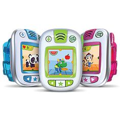 "Leap Band. ""Activity tracker just for kids that encourages active play and healthy habits with a customizable pet pal.""  Audio challenges, earn points, learn healthy habits. Water resistant, parent controls, audio instructions. From LeapFrog."
