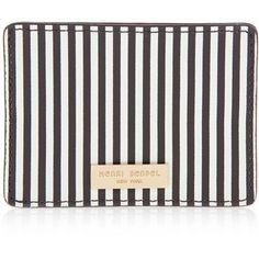 Henri Bendel Centennial Stripe Card Case