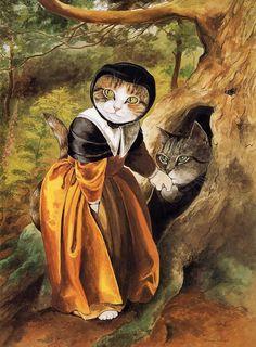 Важные кошки в картинах-пародиях Сьюзен Херберт. Обсуждение на LiveInternet - Российский Сервис Онлайн-Дневников