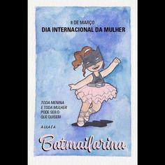 By carolrossetti88: Batmailarina em português também! Quem quiser encomendar poster fine art só mandar email pra carolrossettidesign@gmail.com! #batmailarina #cores #diadamulher #illustration #feministillustration
