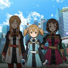 Asuna, Lizbeth & Silica