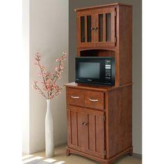 Hazelwood Home Oak Hills Microwave Cart Microwave Stand, Microwave Cabinet, Microwave Cart, Microwave In Kitchen, Kitchen Pantry, Kitchen Ideas, Kitchen Hutch, Mini Kitchen, Kitchen Corner