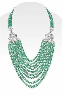 Emerald Bead and Diamond Necklace Emerald Necklace, Emerald Jewelry, Diamond Pendant Necklace, Diamond Jewelry, Turquoise Necklace, Diamond Necklaces, Emerald Rings, Ruby Rings, Bead Jewellery