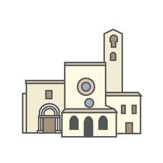 Green hills, a little lake, an abbey and a holy door. Do you want to know the whole story? Saint Mary in Propezzano, Abruzzi. ---------------- Verdi colline, un piccolo lago, un'abbazia e una porta santa. Curiosi di sapere il resto della storia? Santa Maria di Propezzano, #Abruzzo.  Hi-Storia coming soon. #Italy #flat #design #cultura #arte #art
