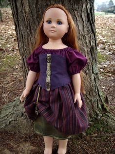 """""""Lena"""" Purple and Gold Steampunk Victorian Renaissance Outfit for 21"""" Effanbee Tonner Doll - by Morgan May @ Stardust Dolls - http://www.stardustdolls.com"""