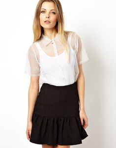 Image 1 ofASOS Premium Blouse with Ethereal Embroidery