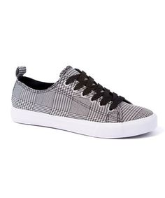 f0ead91124bc EPIC STEP Black   White Plaid Morgan Sneaker - Women