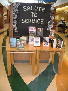 Salute to Service - Display from Walt Branch Library in Lincoln, NE via Flickr.
