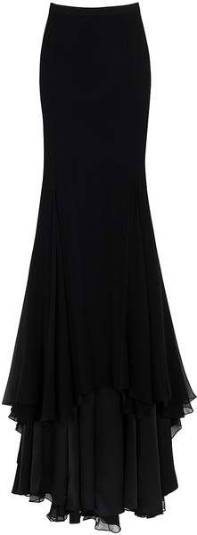JASON WU Chiffon Maxi Skirt - matched with a sheer/lace blouse and jewellry Dark Fashion, Gothic Fashion, Modern Steampunk Fashion, Skirt Fashion, Fashion Outfits, Womens Fashion, Fashion Clothes, Pretty Outfits, Cool Outfits