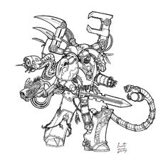 Lars Orcan - Raven Guard Techmarine by Greyall