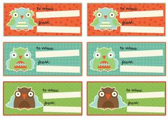 OWL GIFT TAG STICKERS