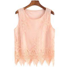 Jacquard Scalloped Hem Pink Tank Top ($11) ❤ liked on Polyvore featuring tops, shirts, tank tops, pink, embellished shirt, pink tank, red ruffle shirt, ruffle shirt and pink tank top