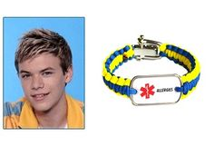 """This rugged paracord bracelet was designed by Kenton to benefit the charity FAAN.     """"A medical alert bracelet or keychain is important to wear for those requiring special treatment in an emergency situation. It becomes your voice to those trying to administer proper/correct life-saving care.""""   Kenton Duty  """"Shake It Up"""""""