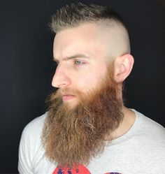These best beard styles feature classic looks and brand new ones. Try a beard fade or hair design for something different. Grooming is the key to a great looking beard, whether it's short or long. Best Beard Growth, Beard Growth Oil, Beard Oil, Viking Beard Styles, Beard Styles For Men, Short Hair Long Beard, Damp Hair Styles, Long Hair Styles, Beard Shapes