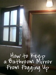 If humidity from your bath or shower causes your bathroom mirror to fog up,  here are a few ways to reduce or eliminate mirror fog so you can actually see your reflection.