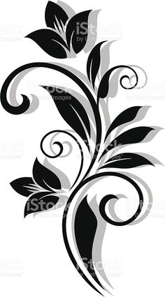 Abstrakte Blumenmuster Lizenzfreies vektor illustrationYou can find Stencil patterns and more on our website. Drawing Stencils, Stencil Art, Stenciling, Wall Stencil Patterns, Stencil Designs For Walls, Motif Floral, Swirl Design, Paint Designs, Fabric Painting