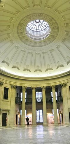 Federal Hall, The former New York Customs House, 1842,  NYC  Architects - Ithiel Town and Alexander Jackson Davis (interior by John Frazee and Samuel Thompson)