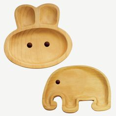 Forget the kids. If I had one of these wooden bunny plates in the house I'd be sneaking it away to hold my peanut butter and jelly sandwich. Made from pine wood, they won't break or crack even under the hands of the most enthusiastic toddler. Little People, Little Ones, Kids Plates, Wooden Cat, Wooden Plates, Wooden Animals, Fancy, Wood Toys, Kids Furniture
