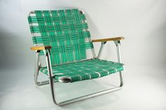 Beach Lawn Chairs Fabric Outside 70 Best Vintage Folding Aluminum Strapping Chair Frame W Wood Arms Pool Outdoor Patio Furniture Needs New Free Package Of