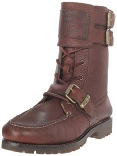 "Polo Ralph Lauren Men's Brockton Double Buckled Boot Polo Ralph Lauren. $76.99. Heel measures approximately 1"". Fashionable and functional. Shaft measures approximately 8.5"" from arch. Manmade sole. Flexible sole. leather"