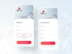 AlpenArm app designed by Marish. Login Page Design, App Ui Design, Mobile App Design, Interface Design, Design Layouts, Design Web, Flat Design, User Interface, Mobile Ui Patterns