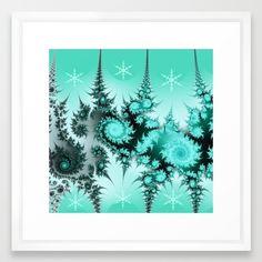 Winter magic in soft blue Framed Art Print