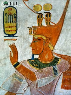 Painting of Ramesses III from the Tomb of Khaemwaset, QV 44, Egypt