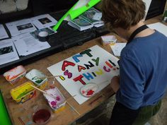 Placard making workshop for the Art Party Conference.