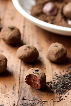 Dark Chocolate Earl Grey Truffles.