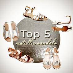 Top 5 Metallic Sandals   Photo Gallery - Yahoo! Shine