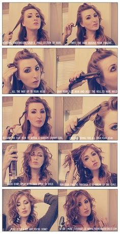 Gonna try this. Curlin my hair with a flat iron never has turned out, but then again ive never done it this way.